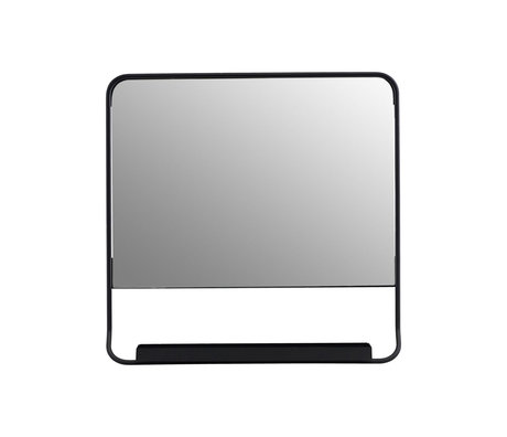 Housedoctor Mirror Chic black glass metal 45x45cm
