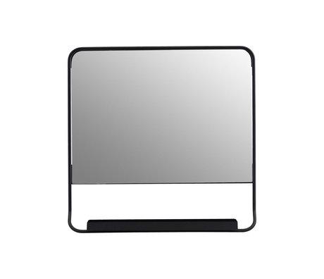 Housedoctor Spiegel Chic schwarz Glas Metall 45x45cm