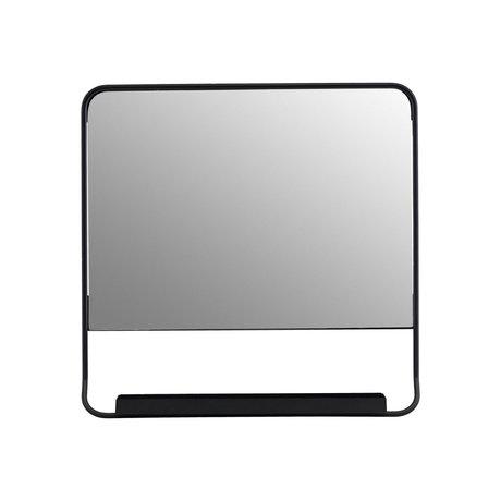 Housedoctor Miroir Chic métal noir verre 45x45cm