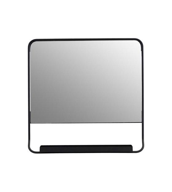 Spiegel Op Je Computer.Spiegel Chic Zwart Glas Metaal 45x45cm