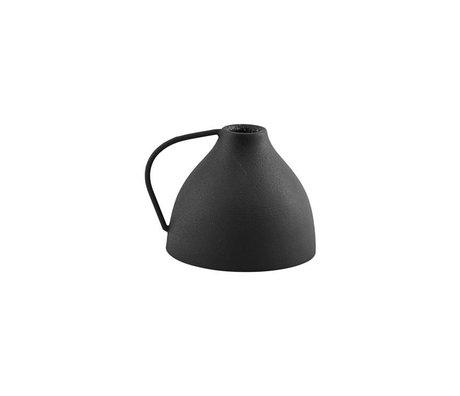 Housedoctor Candlestick Vigi matt black iron Ø9.5x10.5cm