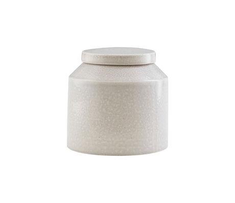 Housedoctor Boîte de rangement Kala en céramique gris clair Ø11.5x11.5cm
