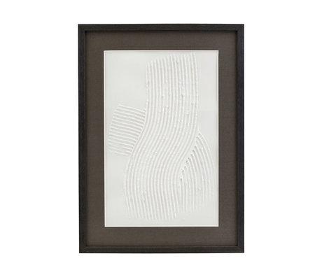 Housedoctor Poster met lijst Vernis 03 wit zwart glas hout 55x40cm