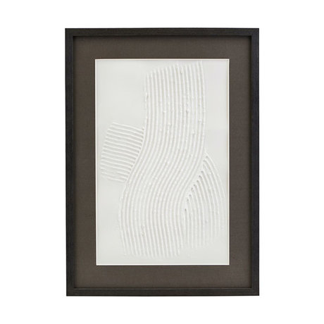 Housedoctor Poster with frame Vernis 03 white black glass wood 55x40cm