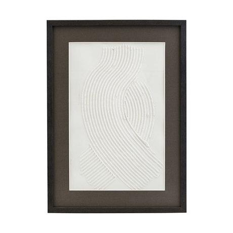 Housedoctor Affiche avec cadre Vernis 02 blanc verre noir bois 55x40cm