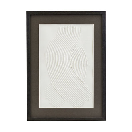Housedoctor Poster met lijst Vernis 02 wit zwart glas hout 55x40cm