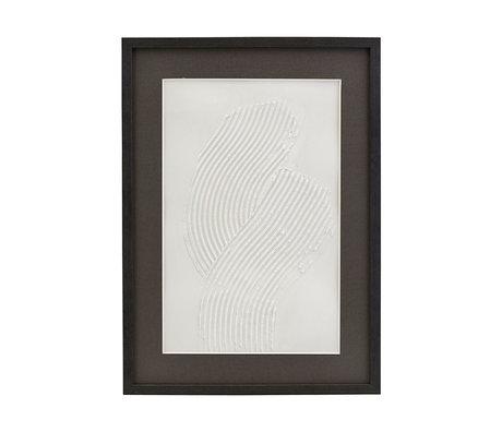 Housedoctor Poster met lijst Vernis 01 wit zwart glas hout 55x40cm