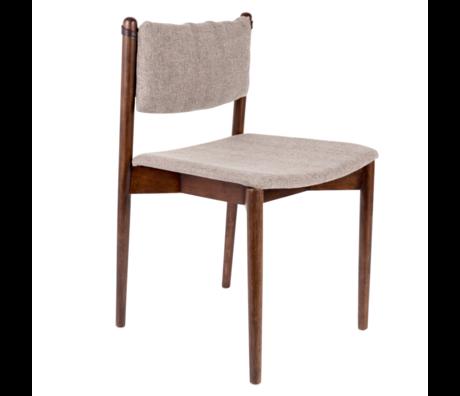 Dutchbone Chaise de salle à manger Torrance textile gris bois 46x52.5x78.5 cm