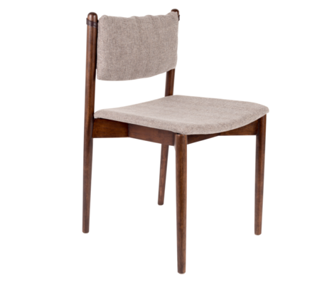 Dutchbone Eetkamerstoel Torrance grijs textiel hout 46x52,5x78,5cm