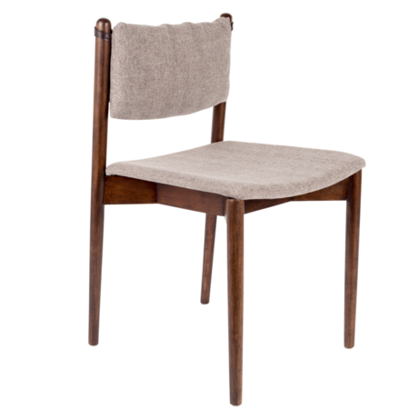 Dutchbone Dining room chair Torrance gray textile wood 46x52.5x78.5 cm