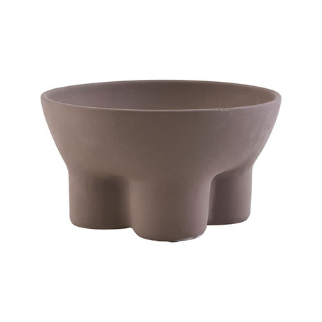 Housedoctor Support à Bol en terre cuite brun bordeaux Ø24x14cm