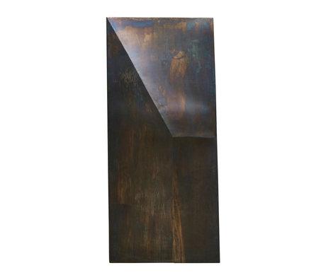 Housedoctor Kunstframe Fold Design antiek bruin ijzer 75x170cm