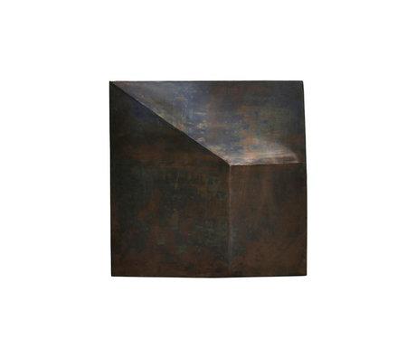 Housedoctor Cadre Art Fold Design fer brun antique 75x75cm