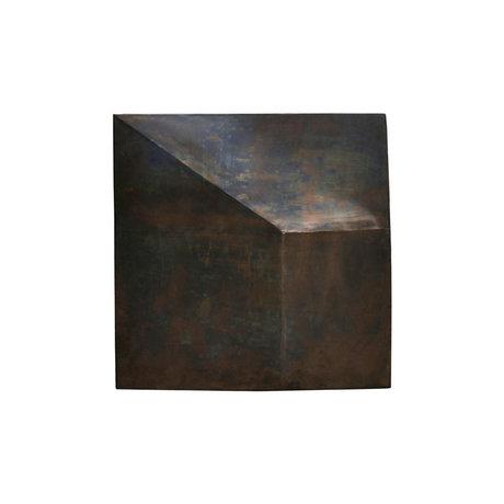 Housedoctor Kunstframe Fold Design antiek bruin ijzer 75x75cm