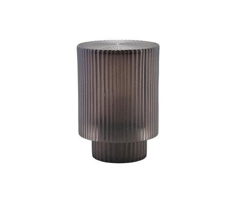 Housedoctor Lantaarn Pedra zwart glas ijzer Ø14x19,5cm