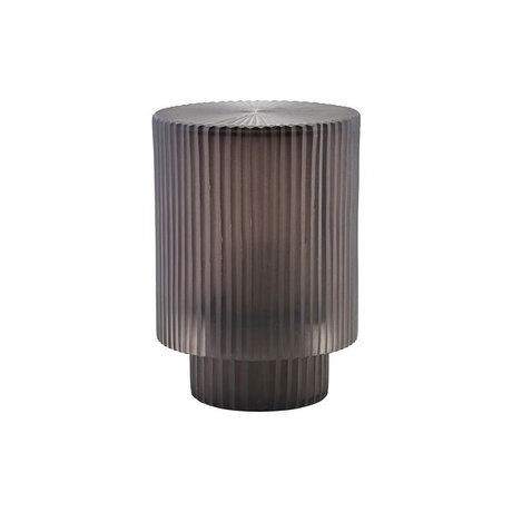 Housedoctor Lantra Pedra black glass iron Ø14x19.5cm