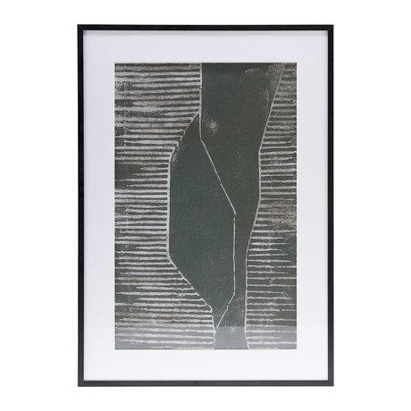 Housedoctor Poster met lijst Field 04 wit glas metaal 59,5x42cm