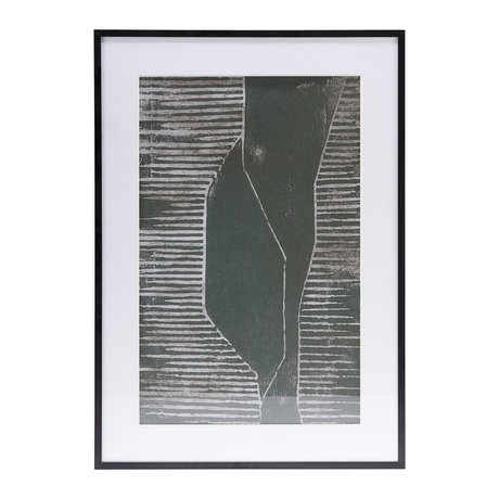 Housedoctor Poster with frame Field 04 white glass metal 59.5x42cm