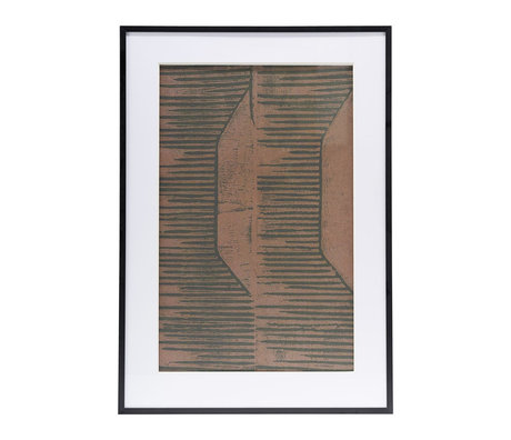 Housedoctor Poster with frame Field 05 red brown glass metal 59.5x42cm