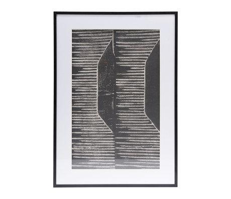 Housedoctor Affiche avec cadre Champ 06 verre blanc métal 59.5x42cm