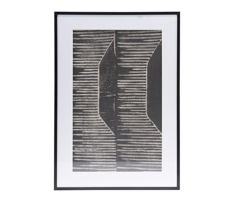 Housedoctor Poster with frame Field 06 white glass metal 59.5x42cm