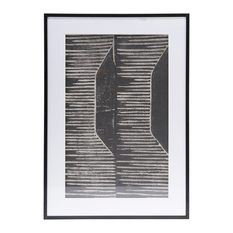 Housedoctor Poster met lijst Field 06 wit glas metaal 59,5x42cm