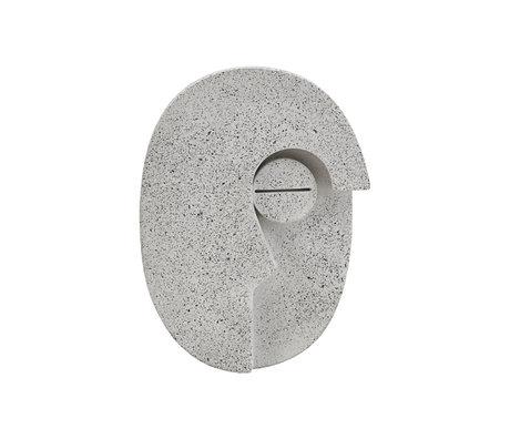 Housedoctor Ornement Mur Face Gris Ciment 10.5x14cm