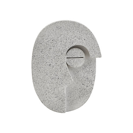 Housedoctor Ornament Wall Face gray cement 10.5x14cm