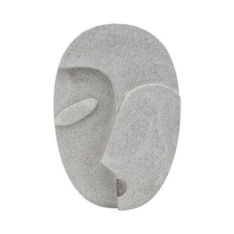 Housedoctor Ornament Wall Face gray cement 21.8 x 32 cm
