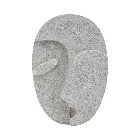 Housedoctor Visage de mur d'ornement ciment gris 21,8 x 32 cm