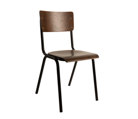 Dutchbone Dining room chair Scuola brown wood 43x49x82.5cm