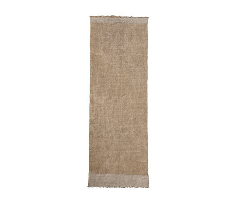 Housedoctor Rug Shander gray burlap textile 200x90cm