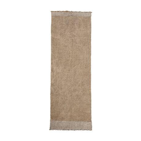 Housedoctor Teppich Shander grau Sackleinen Textil 200x90cm