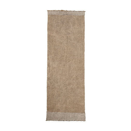 Housedoctor Vloerkleed Shander grijs jute textiel 200x90cm