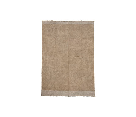 Housedoctor Tapis Shander toile de jute grise textile 60x90cm
