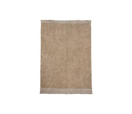 Housedoctor Teppich Shander grau Sackleinen Textil 60x90cm