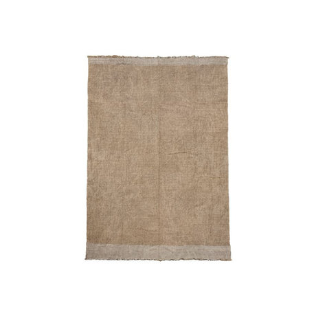Housedoctor Vloerkleed Shander grijs jute textiel 60x90cm