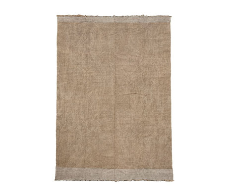 Housedoctor Rug Shander gray burlap textile 200x300cm