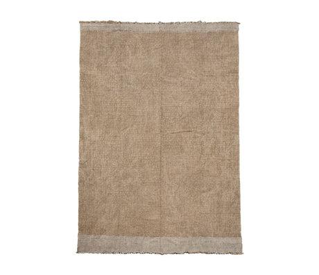 Housedoctor Tapis Shander toile de jute grise textile 200x300cm