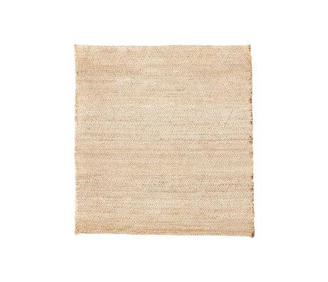 Housedoctor Tapis Mara toile de jute brun naturel textile 180x180cm