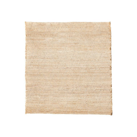 Housedoctor Carpet Mara natural brown burlap textile 180x180cm