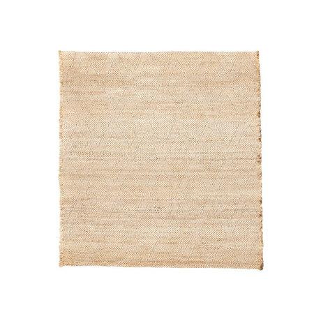 Housedoctor Vloerkleed Mara naturel bruin jute textiel 180x180cm