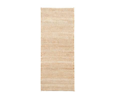 Housedoctor Vloerkleed Mara naturel bruin jute textiel 130x85cm