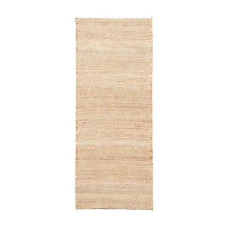 Housedoctor Tapis Mara toile de jute brun naturel textile 130x85cm