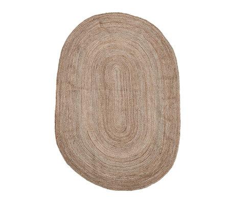Housedoctor Tapis Charco toile de jute brun naturel 200x300cm