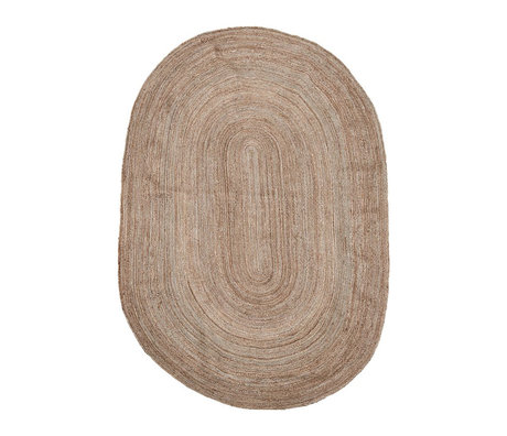 Housedoctor Teppich Charco natürliche braune Sackleinen 200x300cm