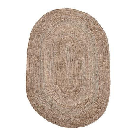 Housedoctor Vloerkleed Charco naturel bruin jute 200x300cm
