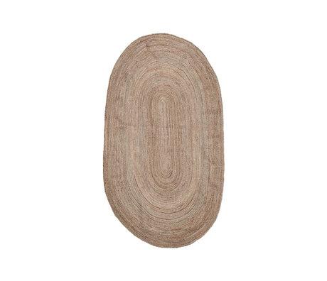 Housedoctor Tapis Charco toile de jute brun naturel 150x90cm