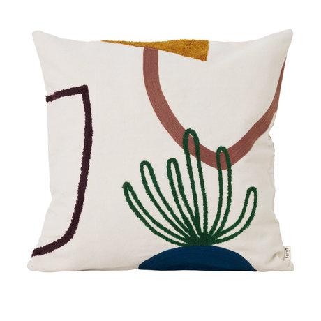 Ferm Living Throw pillow Mirage Island multicolour textile 50x50cm