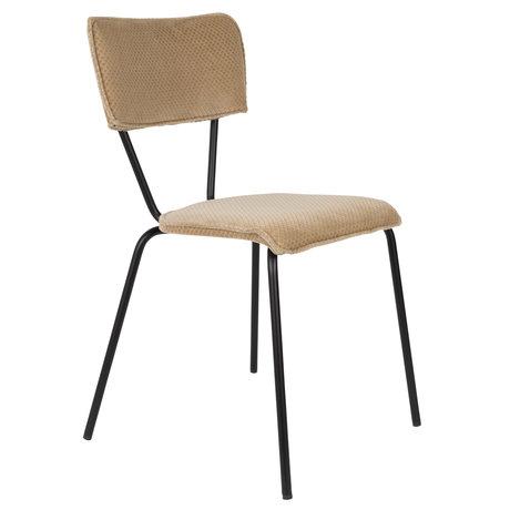DUTCHBONE Chaise de salle à manger Melonie sable brun textile 51x54x81.5cm